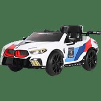 ROLLPLAY BMW M8 GTE RACING, 12V, RC Elektrofahrzeug für Kinder Weiß