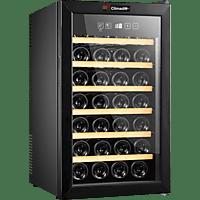 CLIMADIFF CLS28H Weinklimaschrank (183 kWh/Jahr, EEK B, Schwarz)