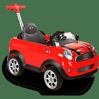 ROLLPLAY MINI COOPER PUSH CAR Fahrzeug zum Schieben für Kinder, Rot