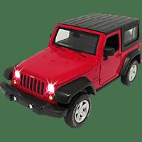 JAMARA KIDS Street Kings Jeep Wrangler Diecast 1:32 rot Kinderspielsachen, Rot