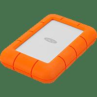 LACIE Rugged Mini, 5 TB HDD, 2,5 Zoll, extern, Silber/Orange