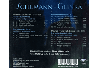 Jakup Lützen, Giovanni Punzi - Schumann & Glinka:Fantasiestücke,Trio Pathetique  - (CD)