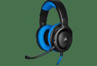 CORSAIR HS35, Over-ear Gaming Headset Schwarz/Blau