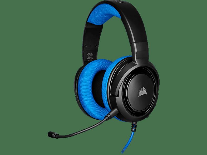CORSAIR HS35, Over-ear Gaming Headset Schwarz Blau