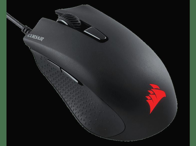 CORSAIR HARPOON RGB PRO Gaming-Maus, Schwarz Leuchtfarbe Mehrfarbig