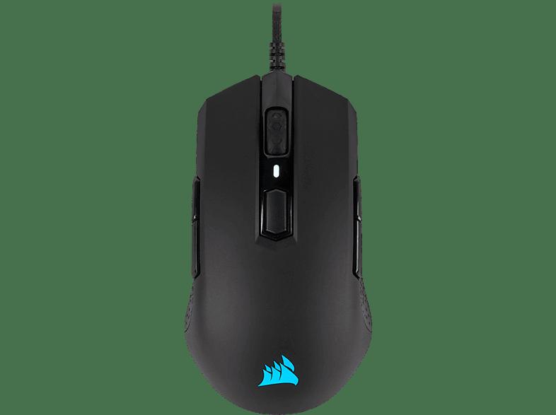 CORSAIR M55 PRO RGB Gaming Maus, Schwarz Leuchtfarbe Mehrfarbig