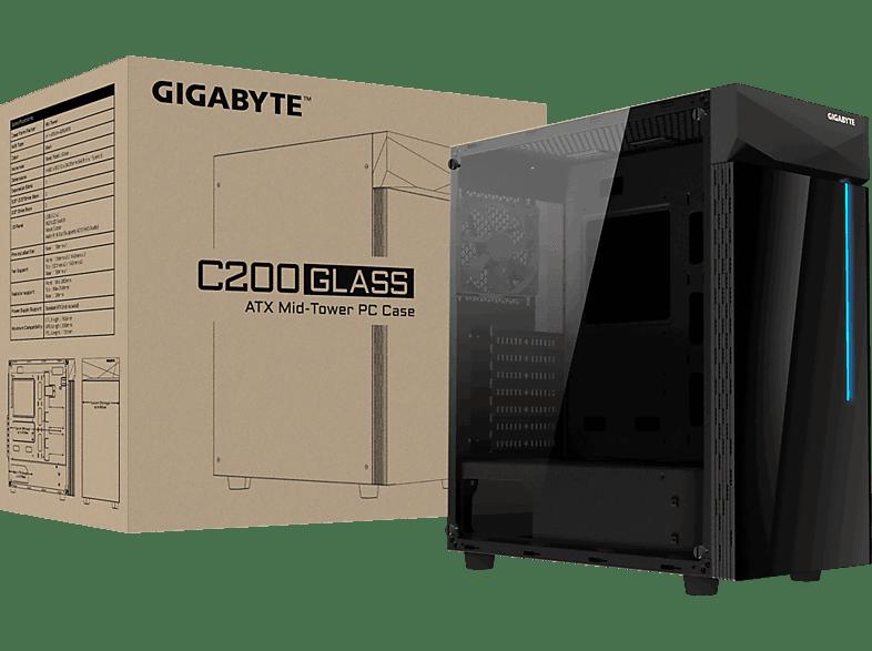 GIGABYTE GB-C200G PC Gehäuse, Schwarz