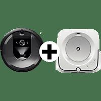IROBOT Saugroboter und Wischroboter Brava, Schwarz (App-Steuerbar)