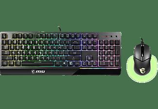 MSI Gaming Tastatur Maus Set Vigor GK30 Combo, USB, DE, schwarz (S11-04DE601-CLA)
