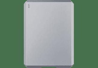 LACIE Mobile Drive USB-C Festplatte, 4 TB HDD, 2,5 Zoll, extern, Weltraum-Grau