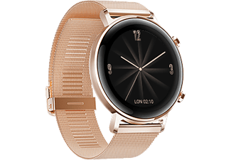 HUAWEI Watch GT 2 Elegant Edition 42mm Rosegold mit Milanaisearmband