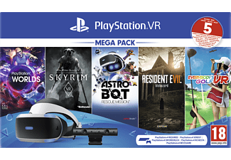 SONY PlayStation VR Mega Pack 2: PlayStation VR, PlayStation Camera, 5 Spiele (VOUCHER)