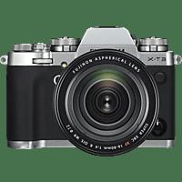 FUJIFILM X-T3 Silber inkl. XF16-80mmF4 R OIS WR Kit Systemkamera 26.1 Megapixel, 7,6 cm Display Touchscreen, WLAN