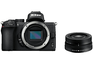 Kit cámara réflex - Nikon Z 50 Sistema de 20.9 MP, DX 16-50 VR, Pantalla táctil de 8 cm, WLAN, Negro