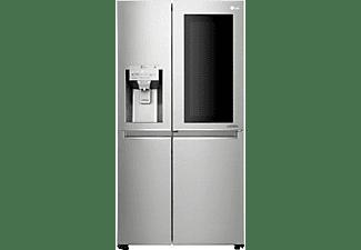 Frigorífico americano - LG GSX960NSVZ, InstaView Door-in-Door, 601 L, 39 dB, No Frost, LED, Inox