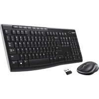 LOGITECH MK270, Tastatur-Maus Set, Schwarz