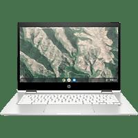 HP Chromebook x360 14b-ca0300ng, Chromebook mit 14 Zoll Display, Celeron® Prozessor, 4 GB RAM, 64 GB eMMC, Intel® UHD Grafik 600, Weiss