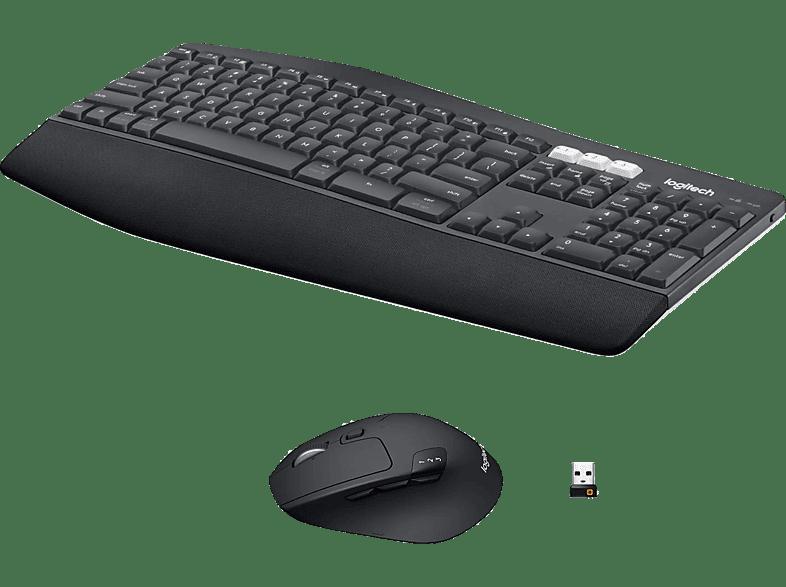LOGITECH MK850 Performance, Tastatur & Maus Set, Schwarz