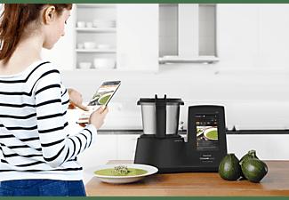 Robot de cocina - Taurus Mycook Touch Black Edition, WiFi, Táctil, 10 velocidades, 1600W, Acero inoxidable