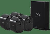 ARLO Ultra Black, 4er Set: 4x Kamera + 1x SmartHub, 4K UHD, Kabellos (MSD Exclusiv), Überwachungssystem, Auflösung Foto: 3840 x 2160, Auflösung Video: 4K-HDR