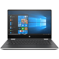 HP Pavilion x360 14-dh1350ng, Convertible mit 14 Zoll Display, Core™ i5 Prozessor, 16 GB RAM, 512 GB SSD, Intel® UHD-Grafik , Schwarz, Silber