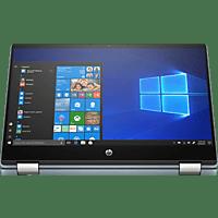 HP Pavilion x360 14-dh1351ng, Convertible mit 14 Zoll Display, Core™ i5 Prozessor, 16 GB RAM, 512 GB SSD, Intel® UHD-Grafik , Schwarz, Blau