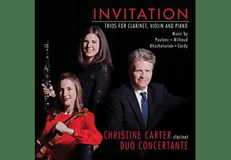Christine -& Duo Concertante- Carter - Invitation: Trios Für Klarinette,Violine Und Klav  - (CD)