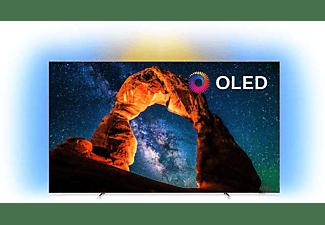 PHILIPS 55OLED803 OLED TV (Flat, 55 Zoll / 139 cm, UHD 4K, SMART TV, Ambilight, Android TV)