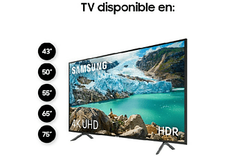 "TV LED 50"" - Samsung 50RU7105, 4K UHD Real, HDR, Smart TV, Bluetooth, Solución cables ordenados"