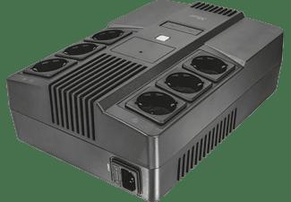 TRUST Maxxon 800 VA USV-Anlage mit Batteriepufferung und 6 Wandsteckdosen