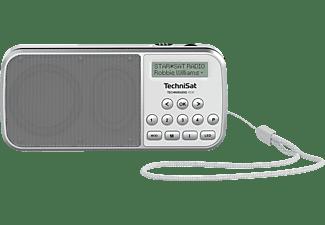 TECHNISAT 0001/3922 Radio, DAB+, Weiß/Silber