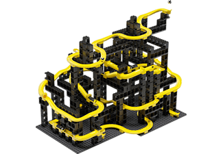 HUBELINO pi Marble Run Set XL - Blocs de construction (Noir/Jaune)