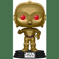 FUNKO UK Star Wars Episode 9 Pop! Vinyl Figur Red Eyes C-3PO Metallic Figur, Mehrfarbig