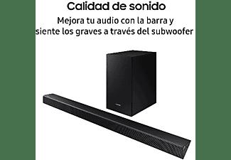 Barra de sonido - Samsung HW-R450, 200 W, 2.1, Subwoofer inalámbrico, Bluetooth, USB