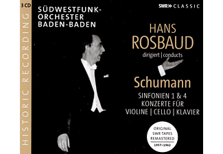 Südwestfunk-Orchester Baden-baden - Hans Rosbaud dirigiert: Sinfonien und Konzerte  - (CD)