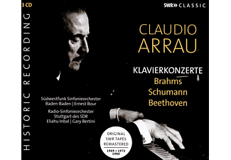 Claudio Arrau, Eliahu Inbal, Gary Bertini, Südwestfunk-Orcherster Baden-baden, Radio-Sinfonieorchester Stuttgart - Klavierkonzerte  - (CD)