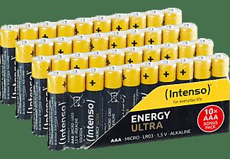 INTENSO Energy Ultra AAA Micro Alkaline Batterie, Alkaline, 1.5 Volt, 1250 mAh 40 Stück