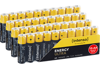INTENSO Energy Ultra AA Mignon Alkaline Batterie, Alkaline, 1.5 Volt, 2600 mAh 40 Stück