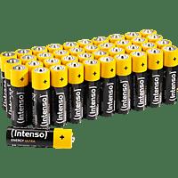 INTENSO Energy Ultra AA Mignon Alkaline Batterie, Zink, EMD, Potassium Hydroxid, Graphit, 1.5 Volt, 2600 mAh 40 Stück