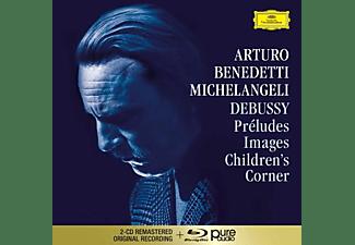 Arturo Benedetti Michelangeli - Debussy: Preludes,Images,Children's Corner (Bra)  - (CD + Blu-ray Audio)