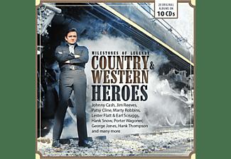 VARIOUS - MILESTONES OF LEGENDS COUNTRY & WESTERN HEROES  - (CD)