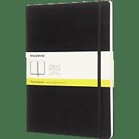 MOLESKINE XL, Blanko, Hard Cover, Schwarz Notizbuch, Schwarz