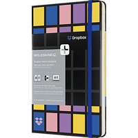 MOLESKINE Dropbox Connected, Large/A5, Blanko, Hard Cover, Schwarz Smart Notizbuch, Schwarz