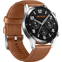 HUAWEI Watch GT 2 Classic Edition 46mm Silber mit Lederarmband