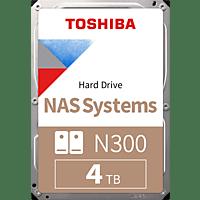 TOSHIBA N300 NAS Hard Drive, 4 TB HDD, 3.5 Zoll, intern
