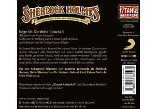 Holmes Sherlock - 040/Die dritte Botschaft  - (CD)