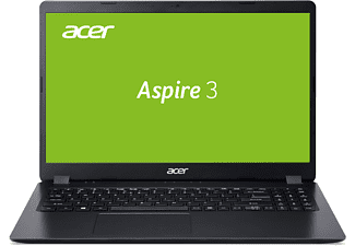 ACER Aspire 3 (A315-54K-33QM), Notebook mit 15,6 Zoll Display, Core™ i3 Prozessor, 8 GB RAM, 512 GB SSD, Intel® HD Grafik 620, Schwarz