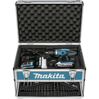 MAKITA DF457DWEX6 2x1,3 Ah + 102 tlg Zub. + Koffer Akku-Bohrschrauber