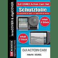 S+M lensCOVER Set, Schutzglas, Transparent, passend für DJI Action Cam