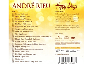 André Rieu - Happy Days (Deluxe Edition)  - (CD + DVD Video)